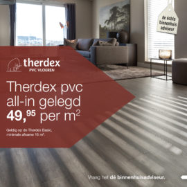 Therdex actie: Therdex Basic PVC all-in gelegd