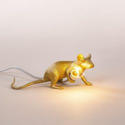 seletti mouse lamp sitting lie down