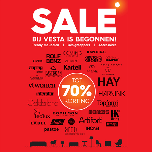 Showroom SALE bij Vesta.